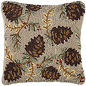 Fall Pine Cone Designer Pillow