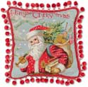 Festive Holiday Santa Christmas Pillow