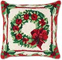 Festive Wreath Christmas Pillow