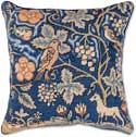 Forest Tapestry Floral Needlepoint Pillow