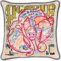 Giant Acadia National Park Geography Pillow