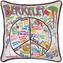 Giant Embroidered Handmade Berkeley Geography Pillow
