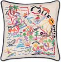 Giant Handmade Embroidered California Geography State Pillow