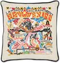 Giant Handmade Embroidered Geography New Mexico Pillow