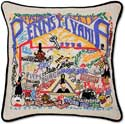 Giant Handmade Embroidered Pennsylvania Pillow