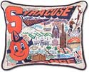 Giant Handmade Embroidered Syracuse Orange Pillow