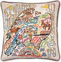 Giant Handmade Grand Canyon Embroidered Pillow