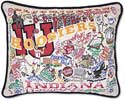 Giant Handmade Indiana University Hoosiers Embroidered Pillow