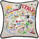 Giant Handmade Italy Italian Embroidered Pillow