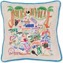 Giant Handmade Jacksonville Florida Geography Pillow