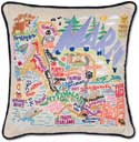 Giant Handmade Marin County Embroidered Pillow