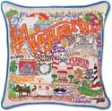 Giant Handmade St Augustine Florida Embroidered Pillow
