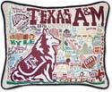Giant Handmade Texas A&M Aggies Embroidered Pillow