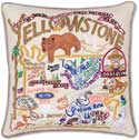 Giant Handmade Yellowstone Park Geography Pillow