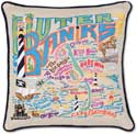Giant Outer Banks Handmade Geography Pillow