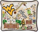Giant West Virginia University Embroidered Toss Pillow