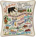 Great Smoky Mountains Throw Pillow