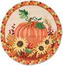 Halloween Thanksgiving Fall Hooked Rug