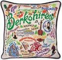 Handmade Berkshires Massachusetts Embroidered Pillow
