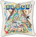 Handmade Block Island Embroidered Pillow