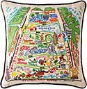 Handmade Central Park New York Geography Pillow