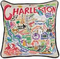 Handmade Charleston South Carolina Pillow