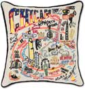 Handmade Chicago Embroidered Geography Pillow