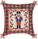 Handmade Christmas Needlepoint Decorative Pillow