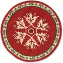 "Handmade Christmas Snowflake Round Hooked Rug<br><font color=""red""><font size=""2""><b>New Arrival</b></font></font>"