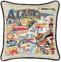 Handmade Embroidered Alaska Geography Pillow