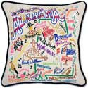 Handmade Embroidered Geography Alabama Pillow