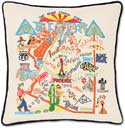 Handmade Embroidered Geography Arizona Pillow