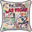 Handmade Embroidered Las Vegas Pillow