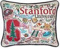 Handmade Embroidered Stanford University Pillow