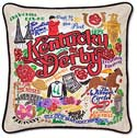 Handmade Kentucky Derby Embroidered Pillow