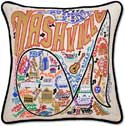 Handmade Nashville Tennessee Embroidered Pillow