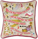 Handmade Night Before Christmas Embroidered Pillow