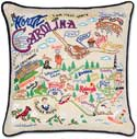 Handmade North Carolina Geography Pillow
