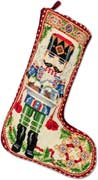 Handmade Nutcracker Christmas Needlepoint Stocking