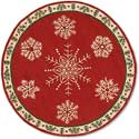 "Handmade Snowflake Round Hooked Rug<br><font color=""red""><font size=""2""><b>New Arrival</b></font></font>"