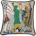 Handmade Statue Of Liberty Throw Pillow