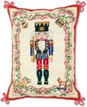 Handmade Steinbach Nutcracker Needlepoint Pillow