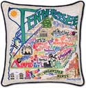 Handmade Tennessee Embroidered Geography Pillow