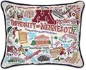 Handmade University Of Minnesota Gophers Embroidered Pillow