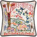 Handmade Vancouver British Columbia Embroidered Pillow