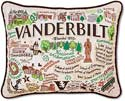 Handmade Vanderbilt University Embroidered Collegiate Pillow