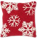 Handmade Winter Flake Christmas Pillow