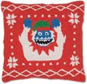 "Handmade Yeti Abominable Snowman Christmas Pillow<br><font color=""red""><font size=""2""><b>Limited Edition</b></font></font>"