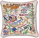 """Handmade Yosemite Park Geography Pillow<br><font color=""""red""""><font size=""""2""""><b>One Available</b></font></font>"""