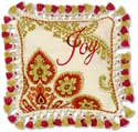 Holiday Joy Needlepoint Pillow